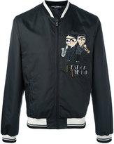 Dolce & Gabbana designer's patch bomber jacket