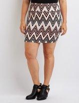 Charlotte Russe Plus Size Printed Bodycon Mini Skirt