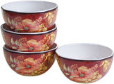 Certified International Watercolor Poppies 4-pc. Ice Cream Bowl