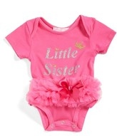 Infant Girl's Popatu Little Sister Skirted Bodysuit