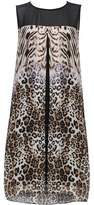 Wallis Petite Animal Print Split Front Overlay Dress