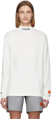 Heron Preston White Style Long Sleeve T-Shirt