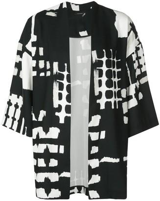 Natori Digital Print Belted Coat