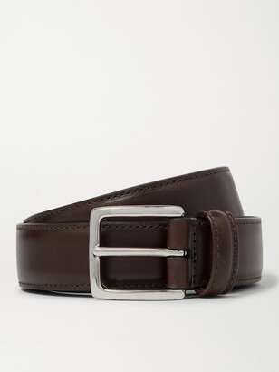 Andersons 3cm Dark-Brown Leather Belt