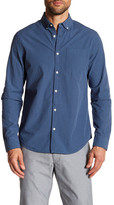 Original Penguin Long Sleeve Gingham Plaid Print Woven Shirt