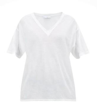 Raey V-neck Cotton-jersey T-shirt - Womens - White