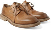 Marsell - Washed-leather Derby Shoes