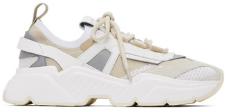 Dolce & Gabbana Beige Stretch Mesh Daymaster Sneakers