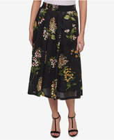 Tommy Hilfiger Cotton Floral-Print Midi Skirt, Only at Macy's
