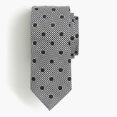 Drakes Drake's® silk tie in dotted houndstooth
