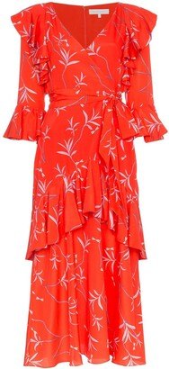 Borgo de Nor Aiana ruffle print midi dress