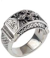 Konstantino Men's Sterling Silver Christogram Cross Ring