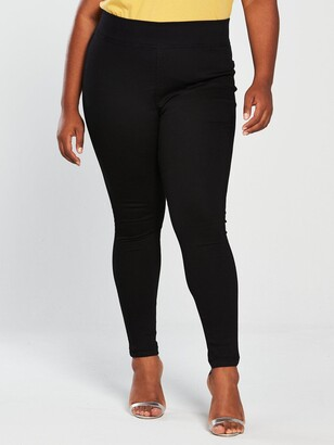 V By Very Curve High Waisted Jegging- Black