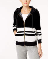 Calvin Klein Velour Striped Zip Hoodie, a Macy's Exclusive Style