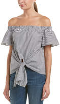 Do & Be DO+BE Do+Be Tie-Front Cold-Shoulder Top