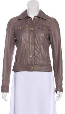 Luciano Barbera Lightweight Leather Jacket