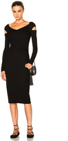 Enza Costa Cut Out Shoulder Dress