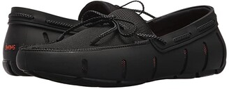 Swims Braided Lace Loafer (Black) Men's Shoes