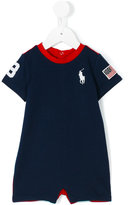 Ralph Lauren striped shoulders bodysuit - kids - Cotton - 3 mth
