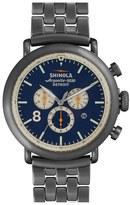 Shinola 'The Runwell Contrast Chrono' Bracelet Watch, 47mm