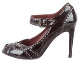 Bottega Veneta Cutout Patent Leather Pumps