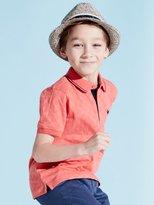 M&Co Textured polo shirt