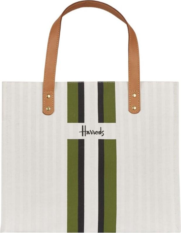 Harrods Logo Stripe Grocery Shopper