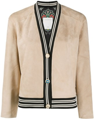 Sandro Paris Cropped Suede Jacket