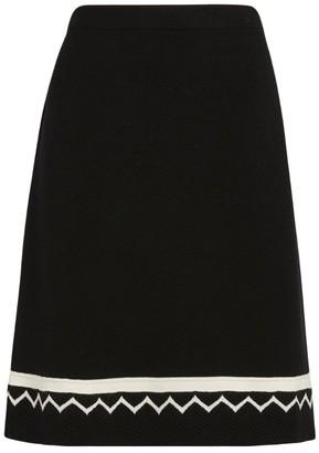 D-Exterior D.Exterior Knit A-Line Mini Skirt