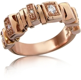 Orlando Orlandini Sole - Diamond 18K Rose Gold Band Ring