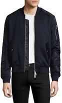 Armani Exchange Solid Stand Collar Jacket