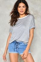 Nasty Gal Lace to the Finish Denim Shorts