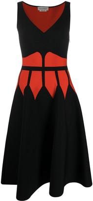 Alexander McQueen Colour Block Knitted Dress