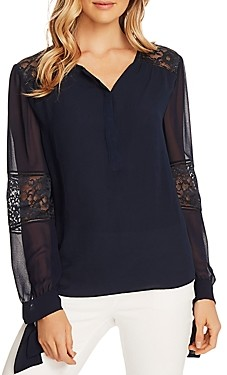 Vince Camuto Tie-Cuff Blouse