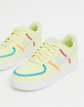 Nike Force 1 '07 waterless dye trainers in yellow
