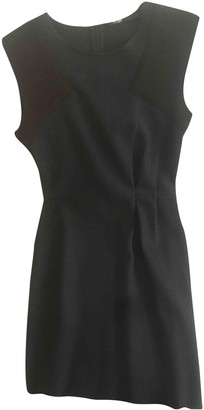 Maje Anthracite Wool Dresses