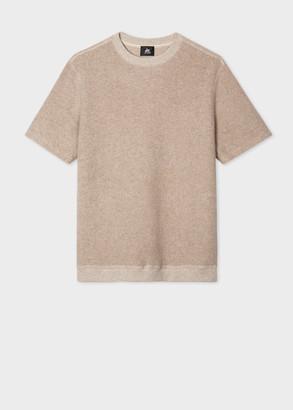 Men's Ecru Red Ear Short-Sleeve Sweater