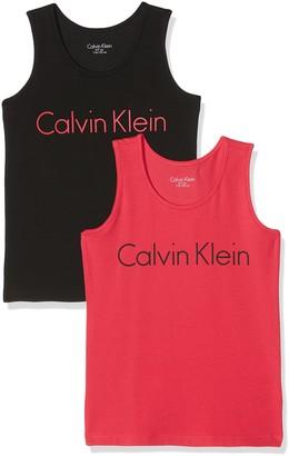 Calvin Klein Girl's 2 Pack Tank Tops Pyjama