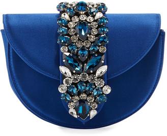 Gedebe Brigitte Mini Jeweled Satin Top-Handle Bag