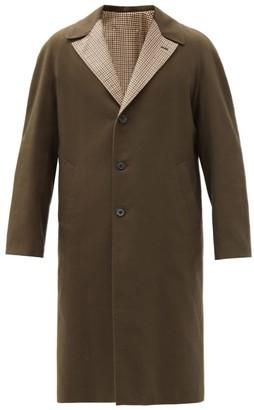 Maison Margiela Reversible Wool And Cotton-blend Coat - Green