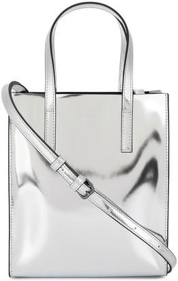 Juun.J Logo Embossed Shoulder Bag