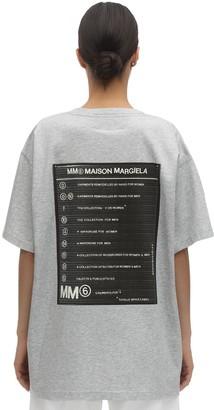 MM6 MAISON MARGIELA BACK PRINTED COTTON JERSEY T-SHIRT