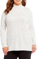 Calvin Klein Plus Fleck Turtle Neck Sweater