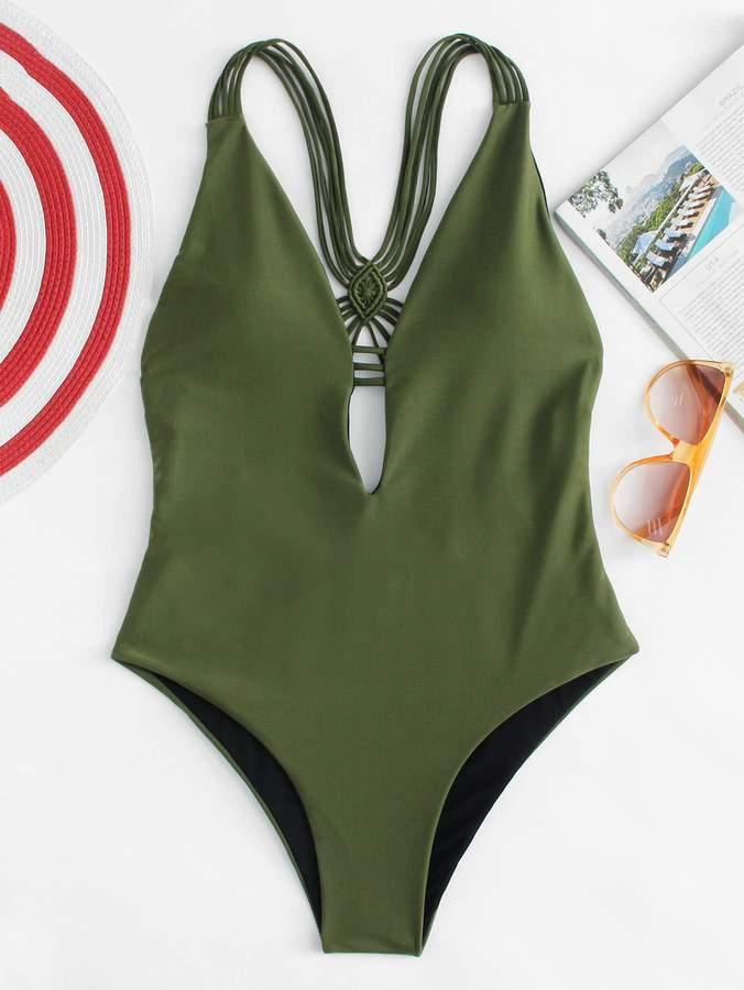 0f14d4c61777 Deep Plunge One Piece Swimsuit - ShopStyle