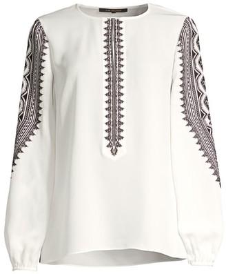 Kobi Halperin Zadie Embroidered Silk Blouse