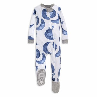 Burt's Bees Baby Baby Boys Unisex Pajamas Zip-Front Non-Slip Footed Pjs Organic Cotton and Toddler Sleepers