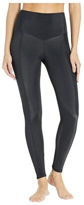 Onzie Sweetheart Midi Leggings (Black) Women's Workout