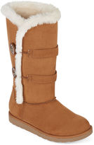 Arizona Button Faux-Fur Boots