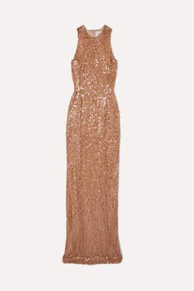 Galvan Metallic Sequined Tulle Gown - Copper