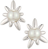 Majorica Spiked Pearl Stud Earrings, White
